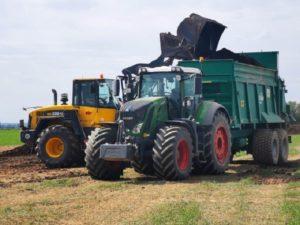 Modernste Landtechnik im Einsatz